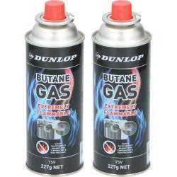 2x Butaan gasflessen navulling butaan gas bussen voor kooktoestel 227 gram