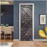3D deurbehang zelfklevend deurposter deur houtlook - inclusief lijm Vintage rustieke planken fotobehang deurfolie posterbehang,E,77 200cm