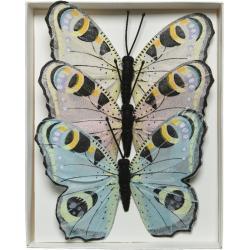 3x Dagpauwoog vlinders decoraties 9 x 12 cm op draad