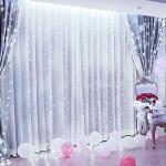 6M x 3M 600 LED Lichtkettinggordijn, Silingsan lichtgordijn 8 Modi, Waterdicht, Antivries, Energie-efficiëntie, Dimbaar, Voor huis Tuin Terras Doe-het-zelf, Kerstfeest, Koud wit