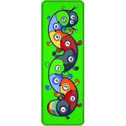 ACHOKA Speelkleed rups 100 x 300 cm groen