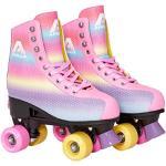 Apollo Disco Rolschaatsen, Retro Rolschaatsen, Rolschaatsen Kind, Tiener en Volwassene, in Maat Verstelbare Rolschaatsen, Quad-Skates, 3 Maten, Verstelbaar van 31 tot 42, Rollerskates