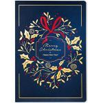 ART NUVO – Exclusieve kerstkaarten nr. 9 – set van 10 gelijke kaarten, 120 x 170 mm, vergulde en geperste kerstmotieven – gemaakt van sierpapier en kleurrijk papier met inzetstukken