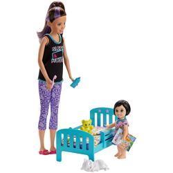 Barbie GHV88 - Barbie Skipper Babysitters Inc Speelset Bedtijd met Skipper pop, peuterpop en meer