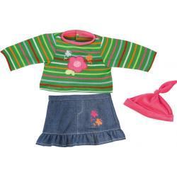 Bayer kledingset 38 cm groen/blauw/roze 3 delig