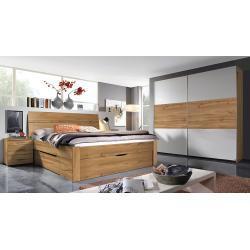 Landelijke Oranje Beter Bed basic Complete slaapkamers  lengte L 200 cm  breedte B 200 cm  hoogte H 200 cm met motief van Berg