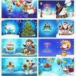 BOxinkk Doe-het-zelf diamant wenskaart verjaardagskaart dank u kaart feestkaart kerstkaart, diamant schilderij wenskaarten, diamant kaarten DIY Christal (D)