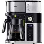 Braun MultiServe KF 9050 Koffiezetapparaat met Glazen Kan, 7 Porties voor Maximaal 10 Kopjes, Touchscreen, Timer, 1750 Watt, Roestvrij Staal, Zwart