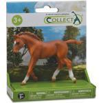 Collecta paarden: Peruaans veulen speelset 8 cm kastanjebruin