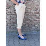 Comfort jeans 3/4 beige