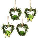 Creativ green kunst-potplanten Mühlenbeckiaharten set van 4 (4 stuks)