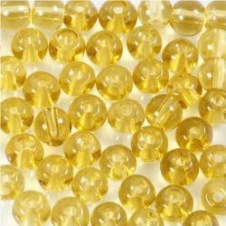 Creotime kralenset rond geel 4 mm 45 stuks