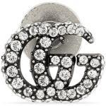 Crystal Double G brooch