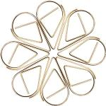 Cymeosh Gouden paperclips, 100 stuks, druppelvorm, kleine papierklemmen, metalen bladwijzers, clips voor boek, memo, papier, poster, foto
