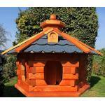 Darlux vogelhuis van L tot XL, voederhuis, vogelhuisje met of zonder standaard in bruin met rood, groen of blauw