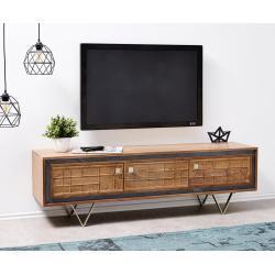 DELIFE Designer-Tv-meubel Stonegrace 147 cm acacia natuur 3 deuren, Ladekasten & kasten