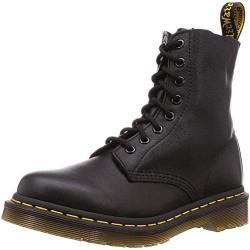 Dr. Martens Pascal Virginia Black Combat Boots voor dames, zwart zwart, 36 EU