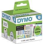 Dymo, Lw-Multifunctionele Etiketten, Zelfklevend (57 Mm X 32 Mm, Rol Met 1.000 Gemakkelijk Verwijderbare Etiketten, Voor Labelwriter-Etiketten, Authentiek Product), Wit