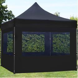 Easy up Partytent 3x3m Hoogwaardig polyester 300 g/m² zwart waterdicht Easy Up Tent, Pop Up Partytent, Harmonicatent, Vouwtent