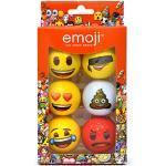 Emoji Volwassen 6-delige set nieuwe leuke golfballen, multicoloured, 6