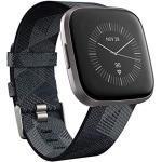 Fitbit Versa 2 Health & Fitness Smartwatch met spraakbediening, slaapscore en muziek, één maat, SE Smoke Woven