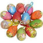Gardening Will 12 stks Nieuwe Vintage Stijl Papier Mache Ei Opknoping Ornamenten Pasen Decoratie