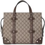 GG tote with leather details