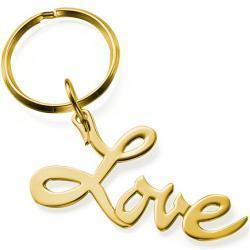 Goud verguld Love Sleutelhanger