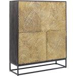 Gouden wandkast snijwerk 120x40x150cm Kare Design Circulo