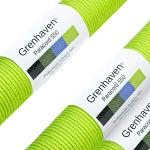 """Grenhaven Paracord touw neon groen parachutekoord universeel inzetbaar survivaltouw met 7 strengen 30m 550lbs 100ft van scheurbestendig parachute cord"""" Let op Niet geschikt voor klimmen"""