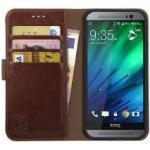 HTC Rosso Element HTC One M8 Hoesje Book Cover Bruin