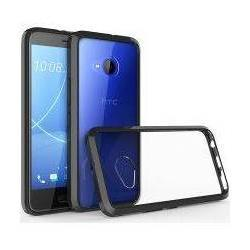 HTC U11 Life Hoesje Armor Backcover Transparant Zwart