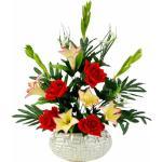 I.GE.A. kunstplant Arrangement lelies/rozen 62x37 cm (1 stuk)
