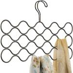 iDesign Classico sjaalhouder met 23 lussen, hangorganizer voor sjaals, stropdassen, riemen, pashmina's enz. van metaal, bronskleurig