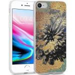 iMoshion Design hoesje voor de iPhone SE (2020) / 8 / 7 / 6s - Grafisch - Bloem Goud