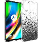 iMoshion Design hoesje voor de Motorola Moto G9 Plus - Spetters - Zwart