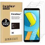 iVoler [3 Stuks] Beschermfolie Compatibel met Huawei Honor 9 Lite Screen Protector, Film van Gehard Glas Schermbeschermer met [9H-hardheid] [Anti-kras] [Kristalhelder] [Geen bellen]