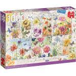 Jumbo legpuzzel Flower Stamps, Summer Flowers 1000 stukjes