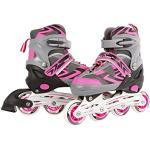 Kids Globe Street Rider inlineskates (inlineskates) roze/grijs, verstelbaar van maat 31-34, abec7 aluminium frame - 720234