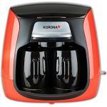 Korona 12208 Compact Koffiezetapparaat 12208-Rood-Zwart   incl. permanent filter   incl. 2 keramische kopjes Mini Koffiezetapparaat   rood