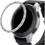 kwmobile Bezel Ring met Tachymeter Compatibel met Samsung Galaxy Watch (46mm) / Galaxy Gear S3 Frontier & Classic - Beschermende Ring Horloges - Zilver/Zwart