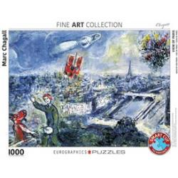 Le Bouquet de Paris - Marc Chagall Puzzel (1000 stilkes)
