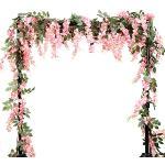 LESHABAYER 5.6 Voeten/stks Kunstzijde Wisteria Wijnstok Rotan Opknoping Bloem Garland Ivy Planten voor Outdoor Bruiloft Party Thuis Tuin Wanddecoratie, Pack van 4
