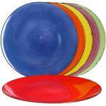 MamboCat Unicolour set van 6 kleurrijke placemats, moderne placemats, afwasbaar, diameter 33 cm, in 6 leuke kleuren, placemat van kunststof, onderhoudsvriendelijk en stapelbaar, kleurrijke tafelonderzetters, 6 stuks