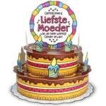 Mega taart wenskaart voor mama/moederdag -