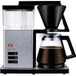 Melitta AromaSignature DeLuxe 100702, koffiezetapparaat met glazen kan, warmbrouwproces, zwart/roestvrij staal