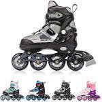 meteor® Inline Skates voor Kinderen Jeugd Volwassen - Ideaal voor Jongens en Meisjes - Instelbare Maat (30-33 S, INVERT GREY)
