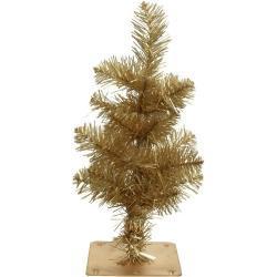 Miniboompje/kunstboom in het goud 35 cm