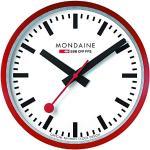 Mondaine Officiële Zwitserse stationsklok, wandklok rood, ø 25 cm