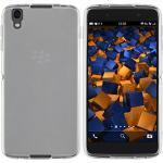 mumbi Hoes compatibel met BlackBerry DTEK50 mobiele telefoon case telefoonhoes, transparant wit, transparant wit